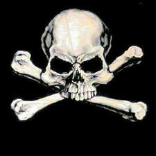 SKULL AND CROSS BONES BLACK TEE SHIRT SIZE XL men women adult T209 pirate t new