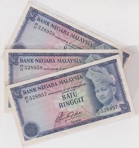 Mazuma *M892 Malaysia 4th $1 P/11 528957-959 3 Running  AEF