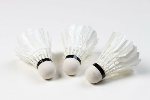 Bälle Federball Federbälle Naturfederball Naturfederbälle Natur für Badminton 3er Set