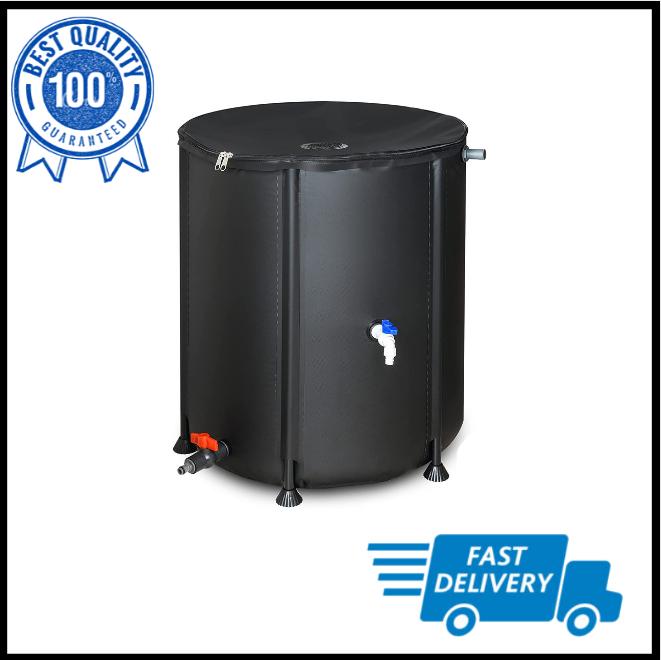 53 Gallon Portable Rain Barrel Water Tank Collapsable Rainwater Collection New