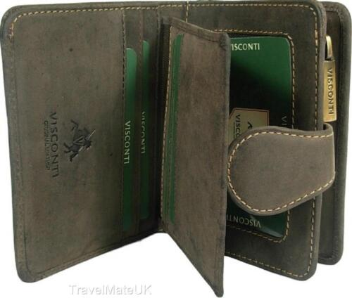 NEW LADIES VISCONTI BOW HUNTER OIL BROWN CUTE LEATHER PURSE WALLET TOP SELLER!!