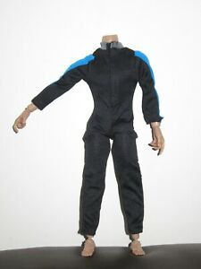 1-6-Scale-Black-Blue-Wetsuit-Diving-Swimming-suit-for-12-034-Action-Figure-Toys