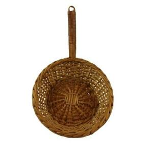 Frying-Pan-shaped-Wicker-Basket-Vintage-Kitchen-Farmhouse-Decor