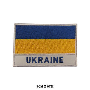 UKRAINE National Flag Embroidered Patch Iron on Sew On Badge For ClotheS etc