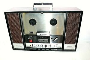 Vintage-Wards-Airline-GEN-3687A-Table-Top-Solid-State-Stereo-Reel-to-Reel-Tested