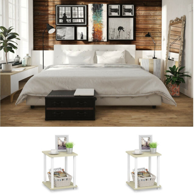 Bowery Hill 2 Piece King Canopy Bedroom Set In White For Sale