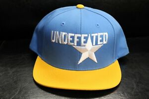 ea666f7b8 Details about Starter Undefeated Snapback Hat Star Logo Blue and Yellow