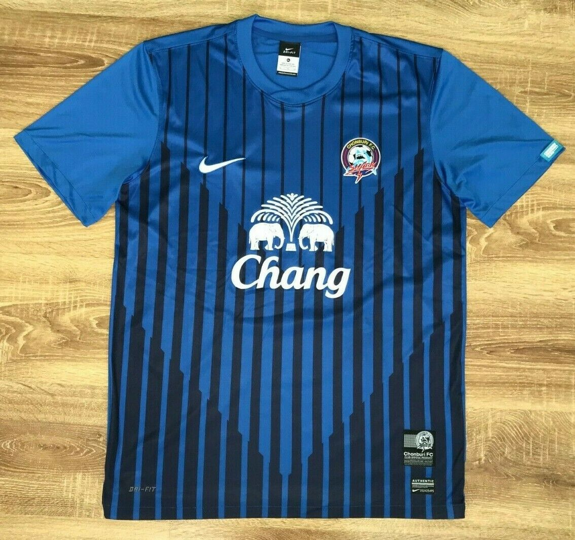 Chonburi Tiburones Tailandia 2012 Muy Raro Home Camisa Tamaño XL