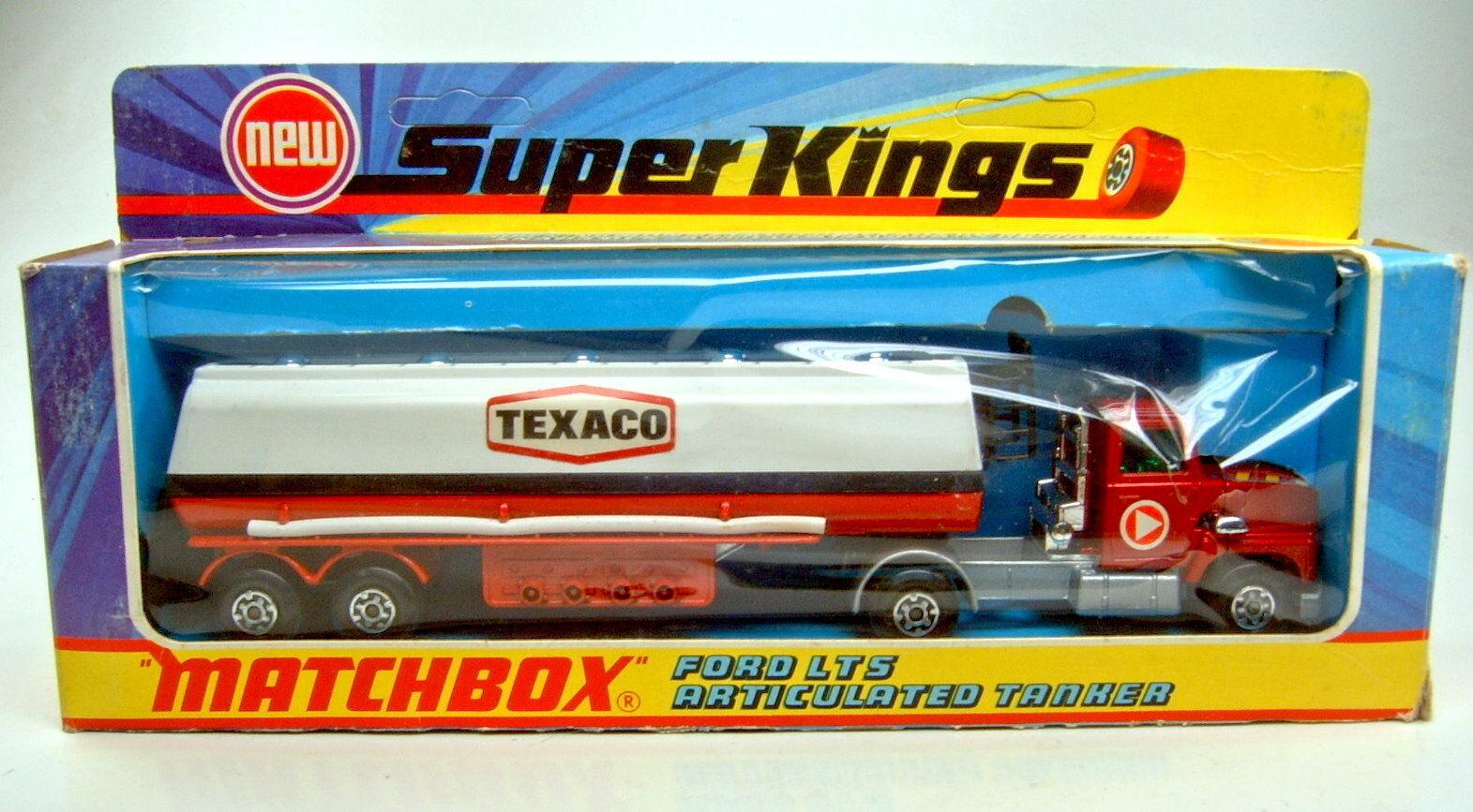 Matchbox SuperKings K-16 Petrol Tanker  Texaco  met. rot  Triangle  labels m b