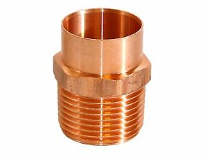 "(25 pcs) COPPER MALE ADAPTER CxM 1"" x 1"""