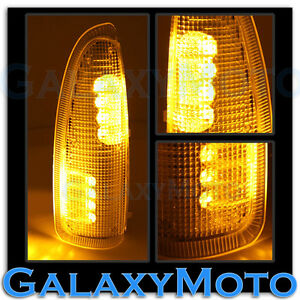 03 07 Super Duty Side Mirror Turn Lights Amber Led Amber