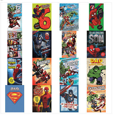 Ironman PR17 Superhero Christmas Card Hulk Spiderman Flash Superman Batman