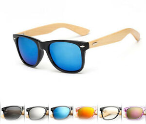 6a95083ed0 New Bamboo Sunglasses Wooden Wood Mens Womens Retro Vintage Summer ...
