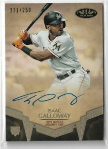 2019-Topps-Tier-One-Baseball-Breakout-Autograph-Isaac-Galloway-231-250-Marlins