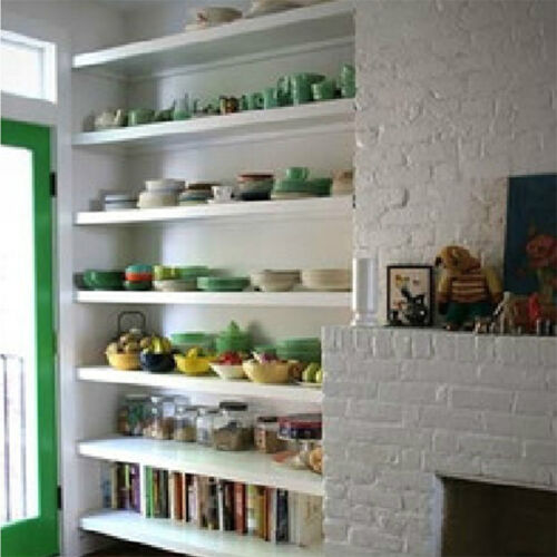 40 Taglie Bianco Nero Muro Ripiani Display negozio magazzino di stoccaggio Scaffalature Scaffale