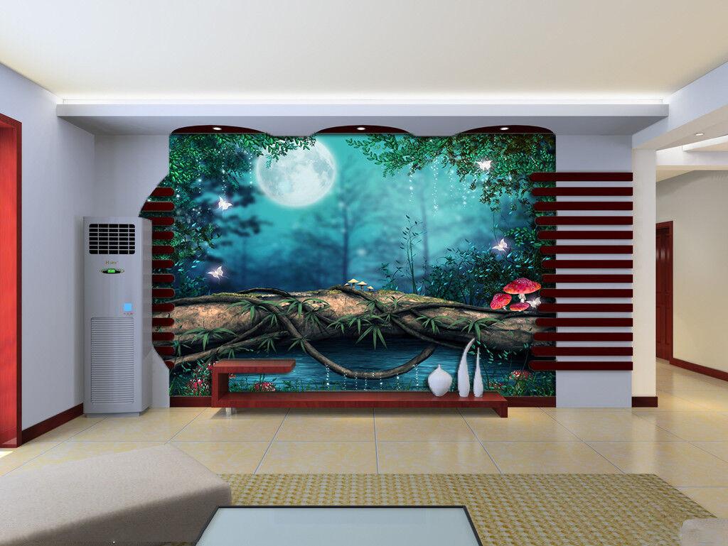 3D Moon Tree Tree Tree Rattan 74 Wall Paper Murals Wall Print Wall Wallpaper Mural AU Kyra 5ec5b2