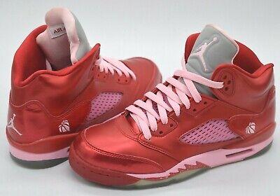 NDS Nike Air Jordan V (5) Valentines Day RedPink Youth 6.5Womens 8 Rare Retro | eBay