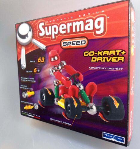 Supermag Magnetic Speed Go-Kart Fahrer Driver Konstruktions-Set  0368