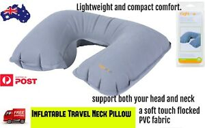 Inflatable-Travel-Neck-Pillow-Flight-Lightweight-Compact-Comfort-Support-Trip-AU
