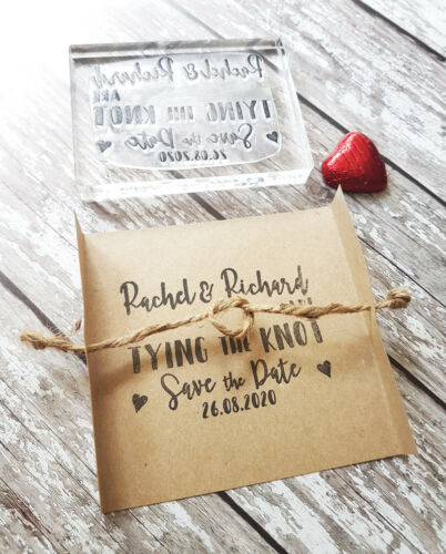 Tying the Knot Save the Date Card Save the Date Stamp