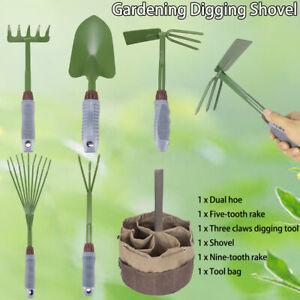 6tlg-Gartenwerkzeug-Garten-Set-Rechen-Schaufel-Hand-Werkzeug-Gartengeraete