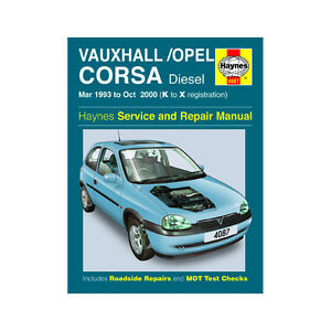 repair manual opel corsa 1 7d 1999