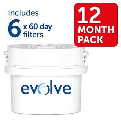 Aqua Optima Evolve 8 month pack 4 x 60 day water filters Fit BRITA* Maxtra*