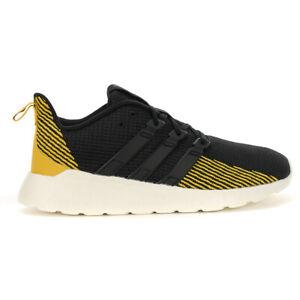 Adidas Men's Questar Flow Core Black/Active Gold Running Shoes EE8214 NEW