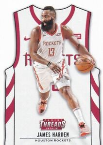 online store fb882 eaa48 Details about JAMES HARDEN 2018-19 PANINI THREADS BASE SP JERSEY #137  HOUSTON ROCKETS