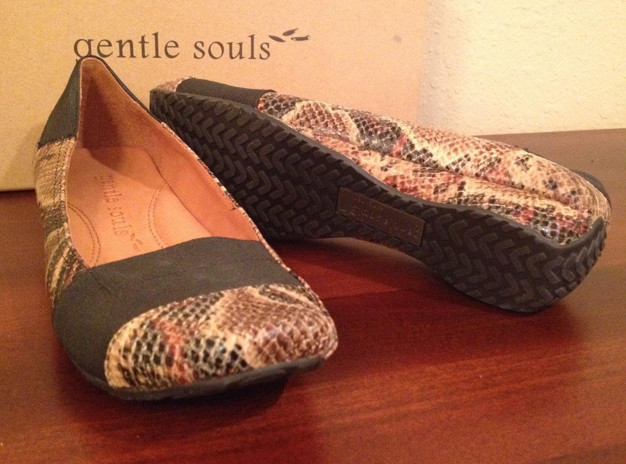 NIB 5 Gentle Souls SNAKE SERPANT CULEBRA ISO KIX Flats Shoes Womens 8 M