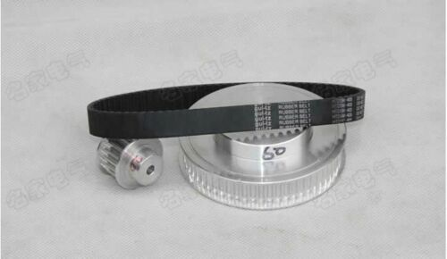 3M Timing Pulleys and Rubber Belts Set Reducer Ratio 6:1 CNC Engraving Machine