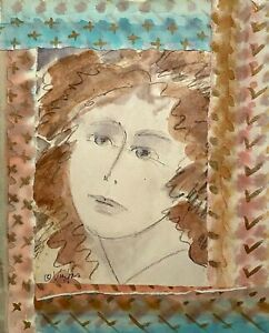MILDA VIZBAR NEW YORK CITY 1933-2019 IMPRESSIONIST MODERNIST PORTRAIT PAINTING