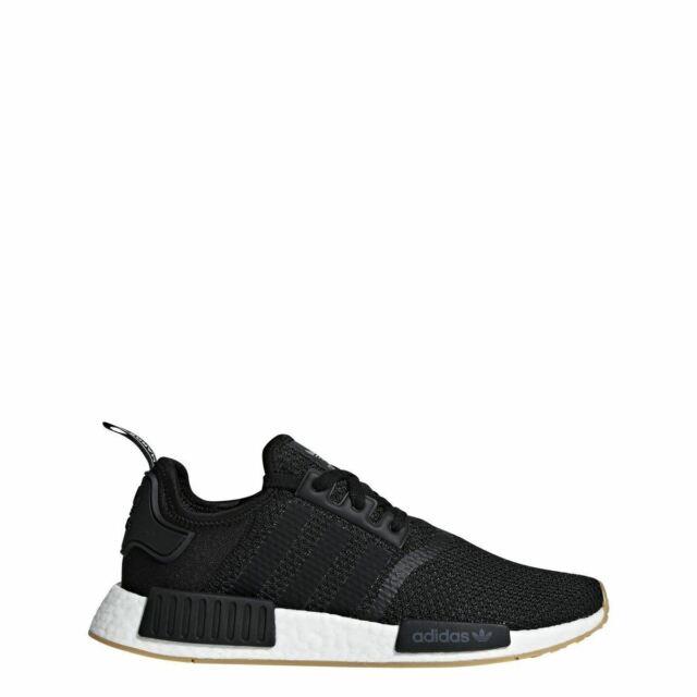 newest 539f5 4a72d [B42200] Mens Adidas Originals NMD_R1 - Black Gum Running Shoe