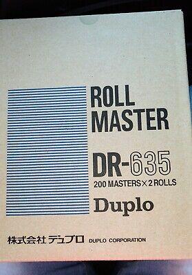 Duplo Dr-635 Masters 2 Rolls For Duplo Digital Thermal Paper Duplicators