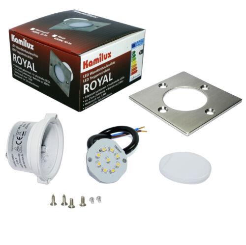 230V LED Wandeinbau Spots 1,5W Schalterdosen Wand Stufen Treppenlicht Royal S A+