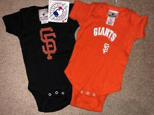 3cec24c0 Details about Lot 2 New MLB SAN FRANCISCO GIANTS Infant One-Shirts, Black &  Orange, Newborn
