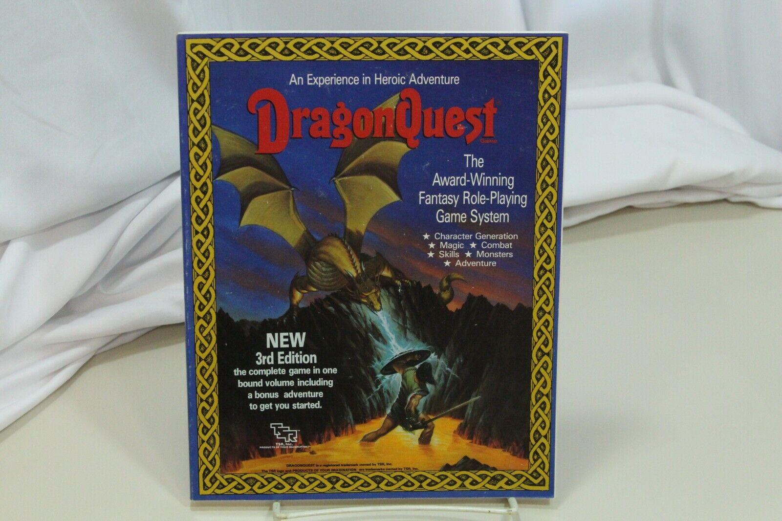 DragonQuest juego Fantasía Juego de Rol 3rd edición TSR 01432-3