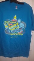 Disney Run 2016 Marathon Weekend Blue Mickey Shirt Men's Size Medium
