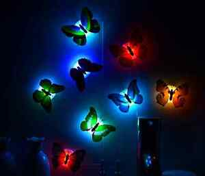 Butterfly-Colorful-Changing-LED-Night-Light-Lamp-Home-Room-Party-Desk-Wall-Decor