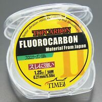 Fluorocarbon Fishing Line 5.5lb/50m Color Clear Material From Japan