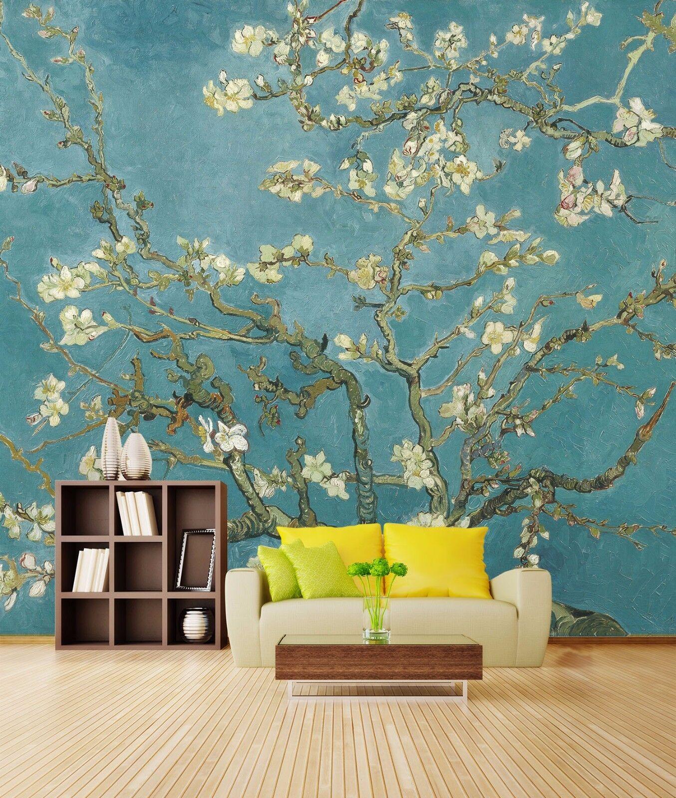 3D Almond blossoms Tree 4783 Wall Paper Wall Print Decal Wall AJ WALLPAPER CA