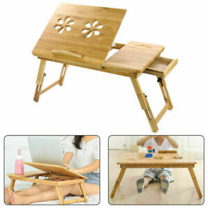 Portable Laptop Computer Desk Foldable Adjustable Bed Sofa Tray PC Stand Table