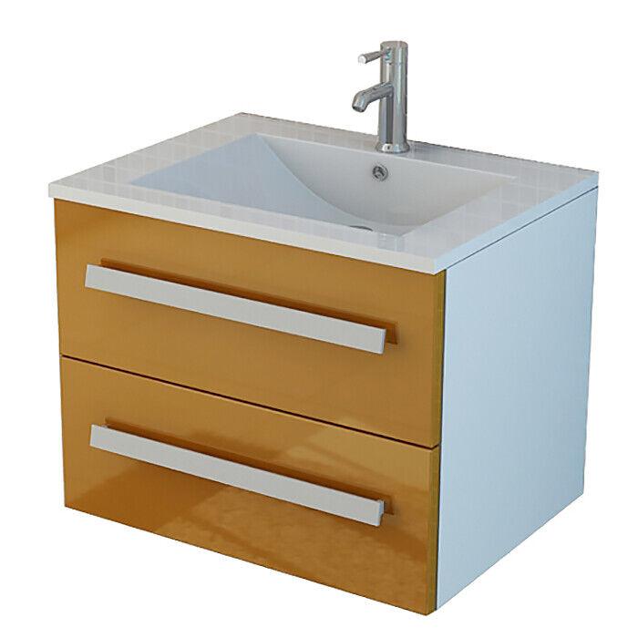 Juego de baño Muebles de baño lavabo A naranja lavabo con armario bajo