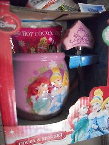 New Disney Princess 3D cocoa /& MUG set Crown Spoon collectible Children Gift