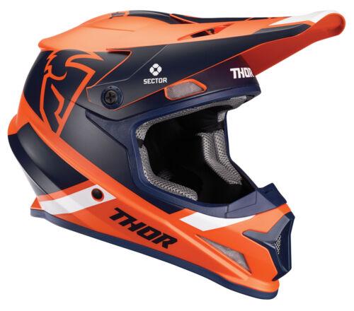 Orange//Navy Thor MX Motocross Sector Split MIPS Helmet Choose Size
