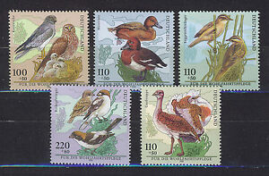 ALEMANIA-RFA-WEST-GERMANY-1998-MNH-SC-B837-B841-Birds