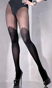 Merry Style Damen Strumpfhose Mit Overknees