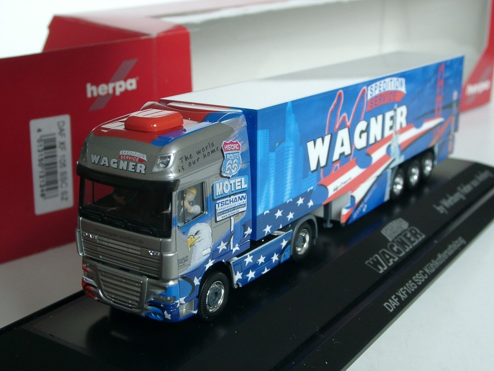 HERPA DAF XF 105 SSC, transporteur Wagner-PC 121248 - 1 87