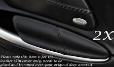 BLACK STITCH FITS PORSCHE BOXSTER 986  2X DOOR ARMREST LEATHER COVERS ONLY