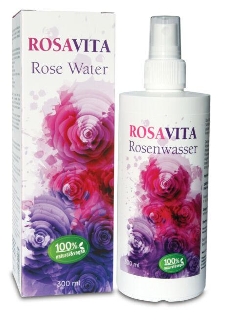 RosaVita Rosenwasser Gesichtswasser Rosendestillat, 100% vegan 300ml (49,97?/l)